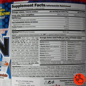 amix-fusion-2kg-supplement-facts