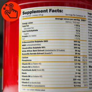 amix-osteo-supplement-facts