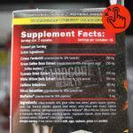 amix-thermocore-supplement-facts