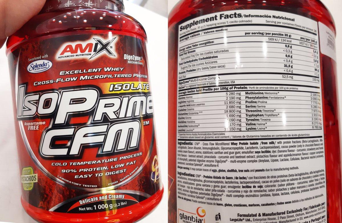 amix isoprime cfm skład